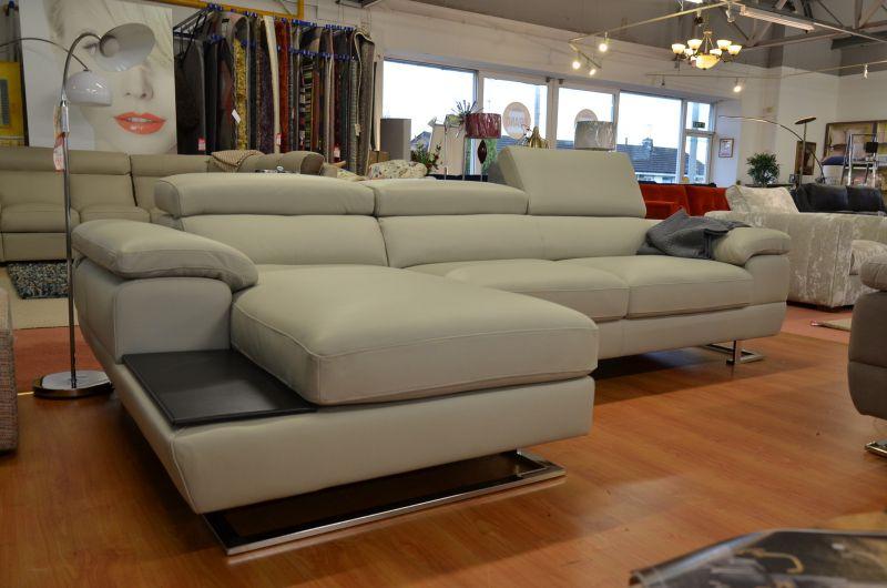 Italian leather chaise corner sofa discount designer sofas Lancashire ex display sofa showroom Ribble Valley high end brands like Minotti Natuzzi Ligne Rossi Italia Living