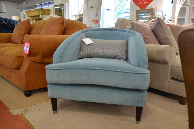 Fitzroy Accent Chair Art Deco 1920s Revival Armchair ex display sofa sale