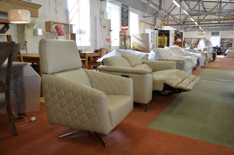 ex display sofas Odyssey Recliner Vesper Swivel Chair Leather sofas Lancashire sofa clearance outlet