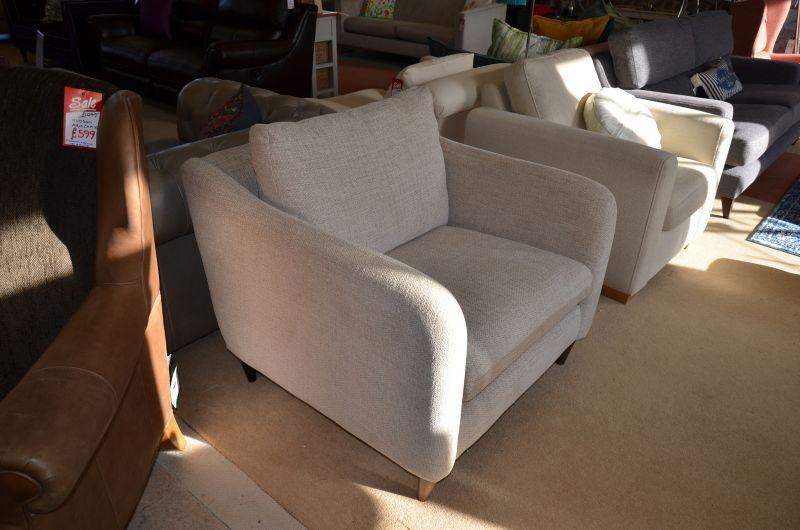 George Snuggler Chair Cream Fabric