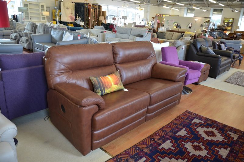 Shalbourne 3 Seater Sofa with Twin Manual Recliners