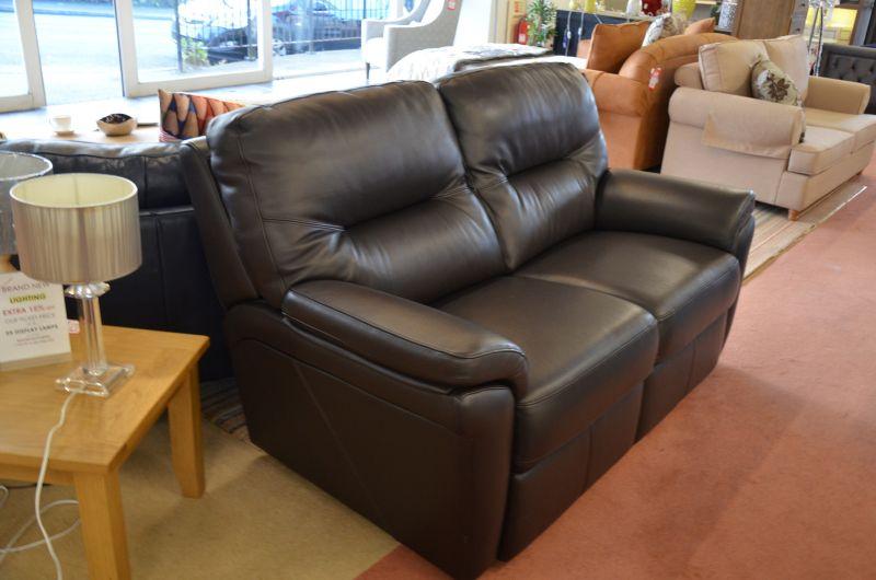 Washington Brown Leather 2 Seater Sofa