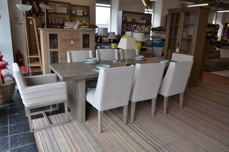 Curated Extending Dining Table and 8 Dining Chairs Including 2 Carvers