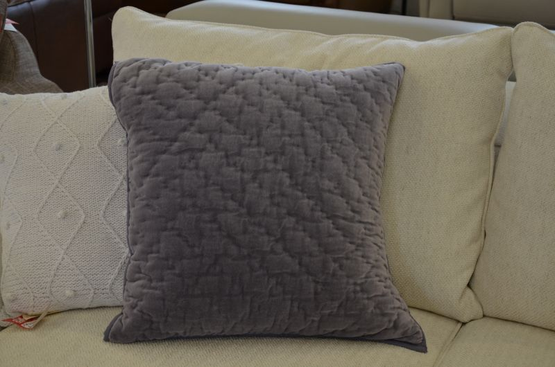 Pair of Annecy Large Quilted Cushions with Feather Fillings