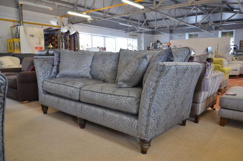 Loretta fabric two piece suite ex display sofas Clitheroe Lancashire