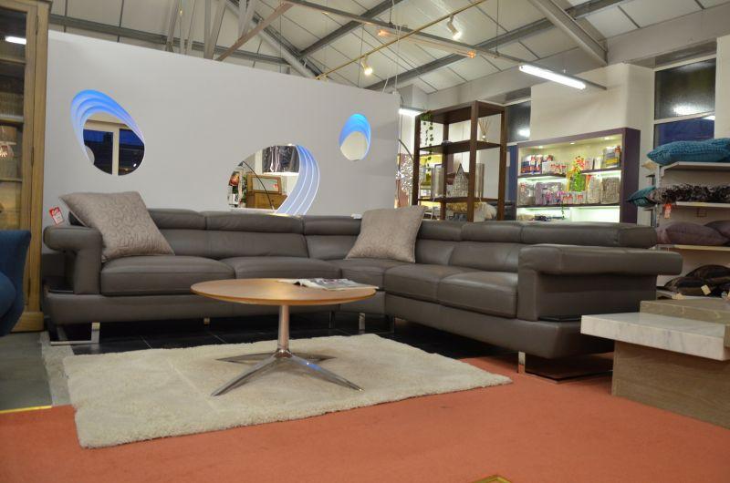 half price designer leather corner sofas in Lancashire