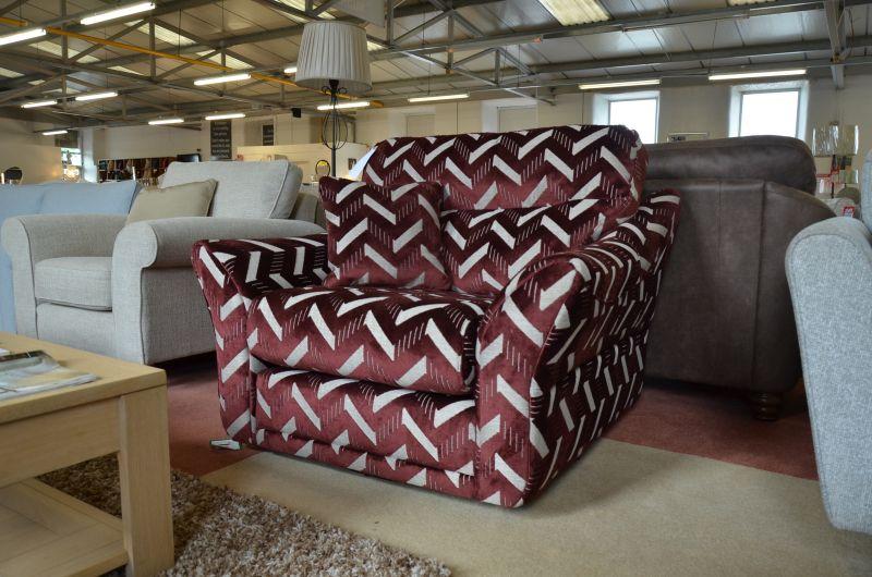 retro swivel armchair ex display sofas Lancashire