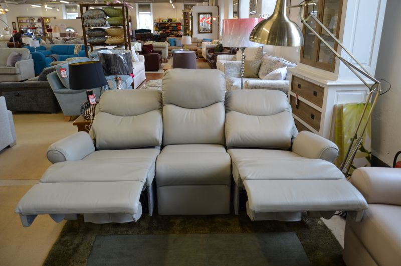 half price G Plan leather recliner sofas Nettleton