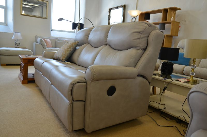 Grey Nettleton 3 Seater Electric Reclining Sofa