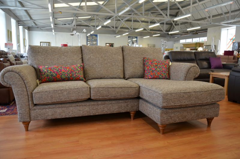 discount fabric corner sofas half price ex display in Clitheroe in the ribble valley