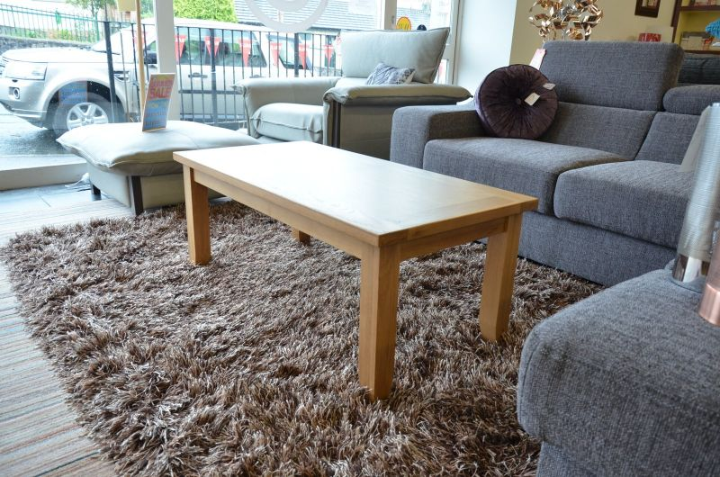 half price oak coffee table