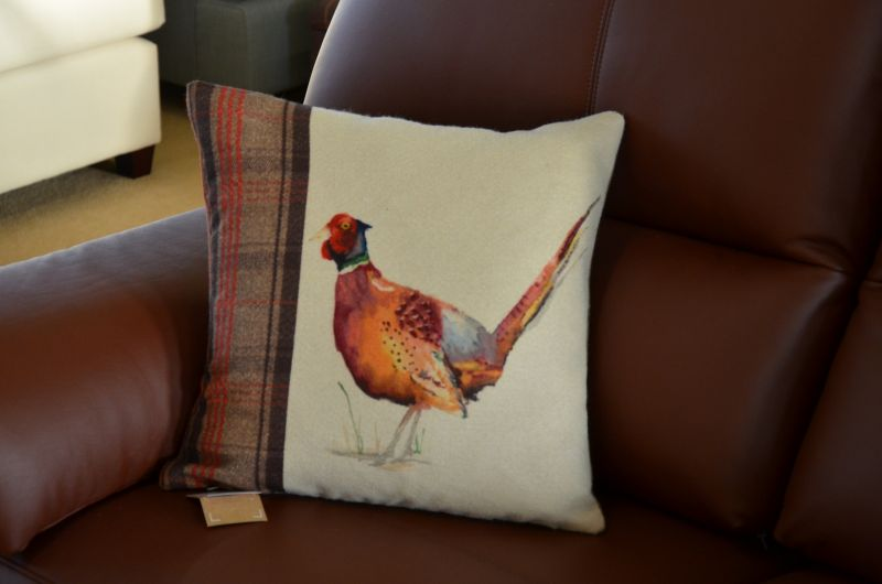 cushions Ribble Valley Pheasant country tartan cushion