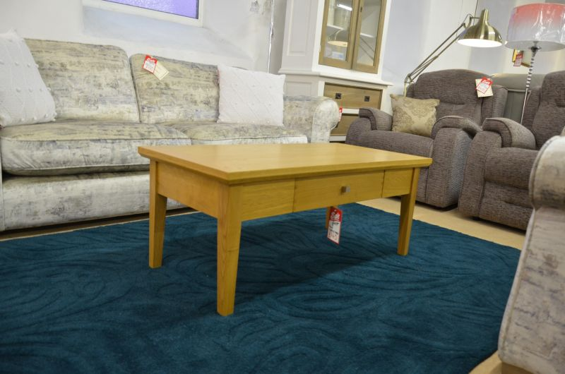 Polo Oak Coffee Table With Storage Drawer