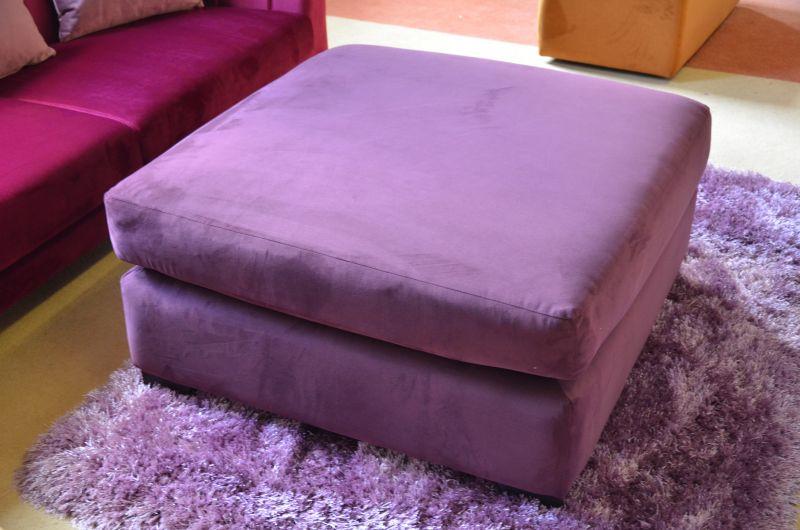 purple velvet footstool designer furniture shop Clitheroe