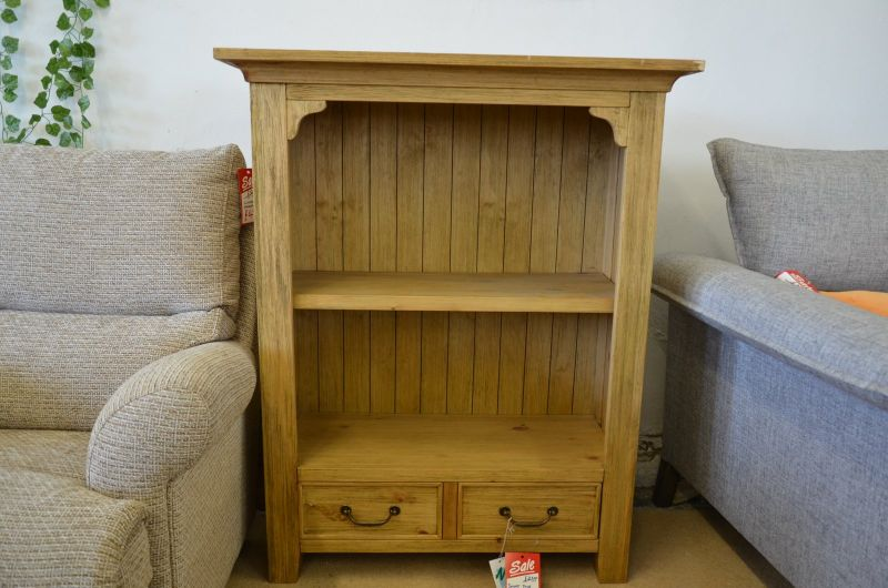 Small cheap pine bookcase with drawers Lancashire