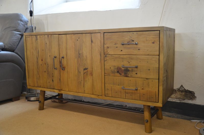 Industrial Sideboard Solid Pine Lancashire near A59 Furniture Showroom