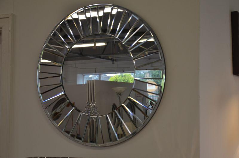 Medium Round Silver Mirror
