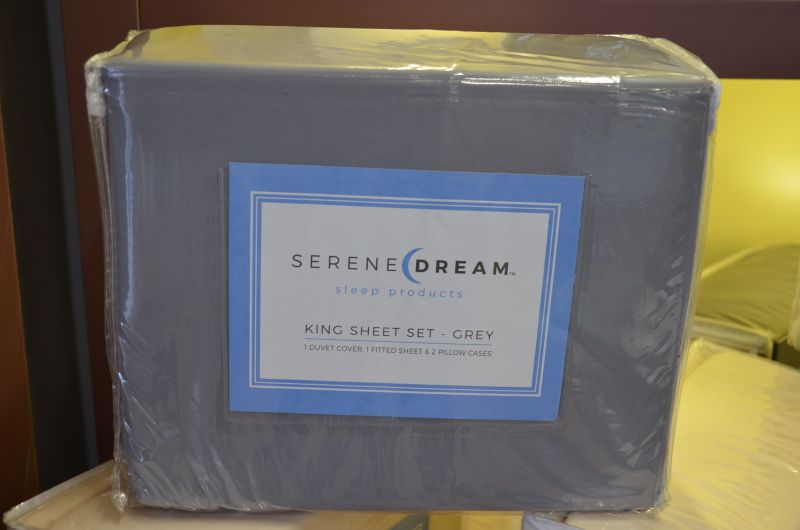 Grey King Size Bedding Set from Serene Dream