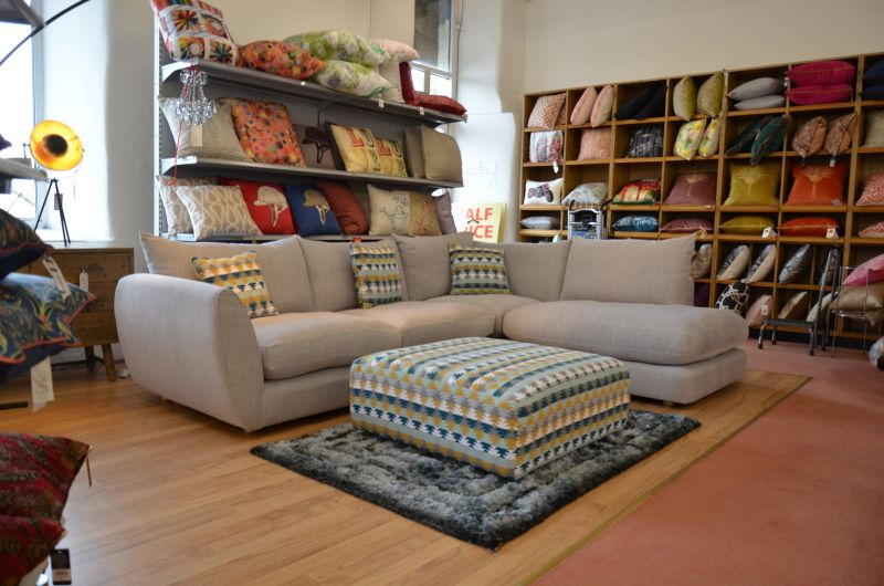 buy fabric corner sofa fast delivery made in Britain