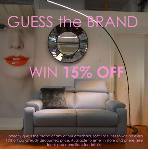GUESS THE BRAND Competition - WIN an Extra 15% OFF!