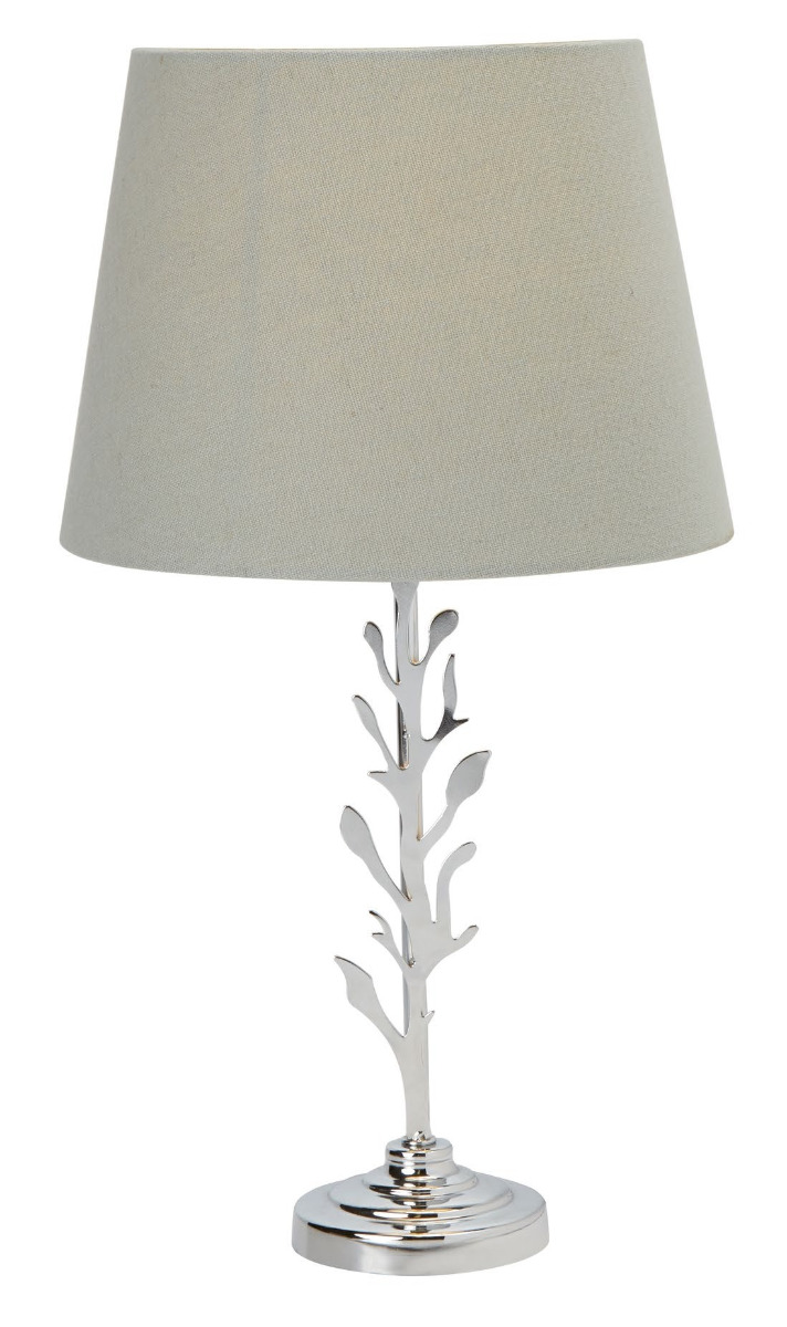 stock image of a leafy design table lamp half price in Clitheroe