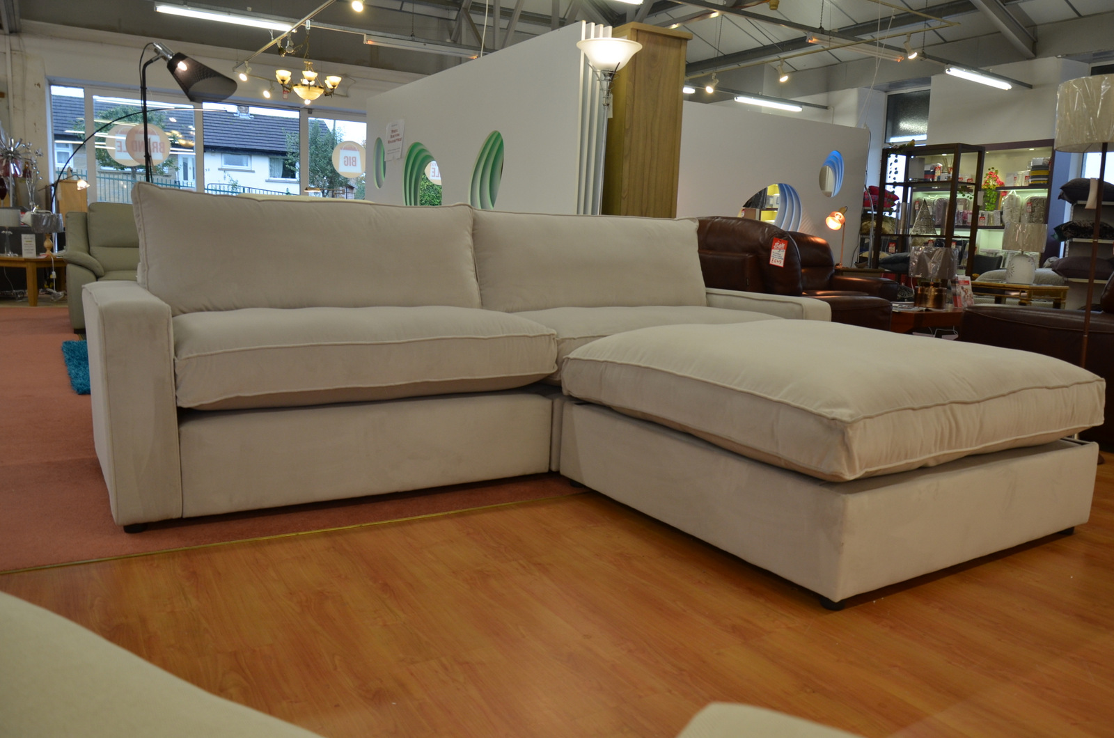 ex display corner sofa in fabric from Willow & Hall