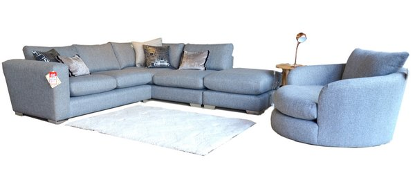 Half price corner sofas at Worthington Brougham Furniture in the North West